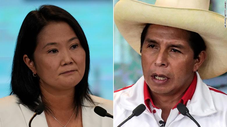 Peru presidential election too close to call, but Keiko Fujimori leads in preliminary tally