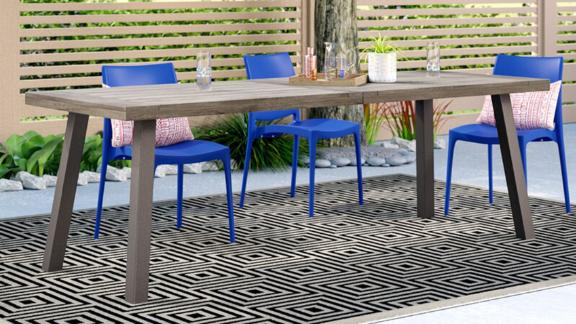 Ivy Bronx Grider Solid Wood Dining Table