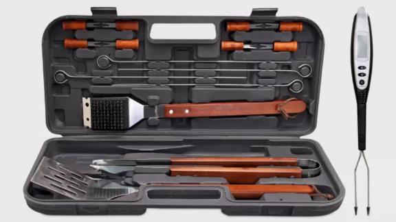 Room Essentials 17-Piece BBQ Tool Set Stainless Steel