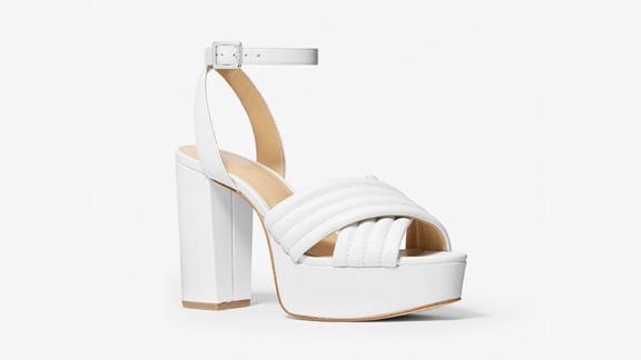 Michael Kors Royce Quilted Leather Platform Sandal