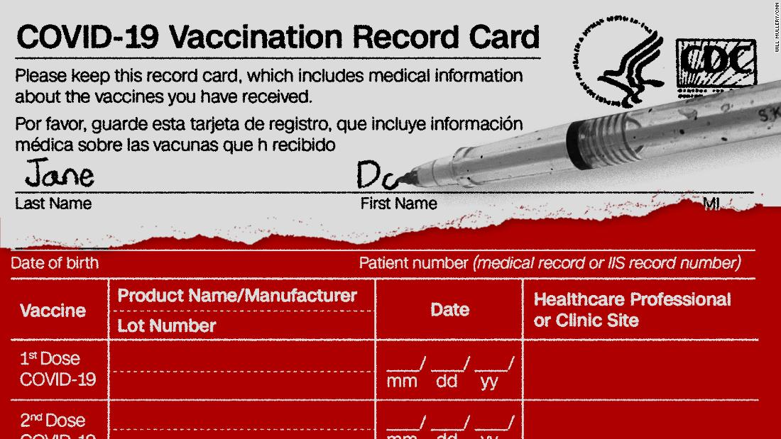 The CDC's Covid-19 vaccination card annotated – CNN