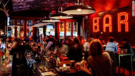 e's Bar, in New York City, has vaccinated and non-vaccinated sections.