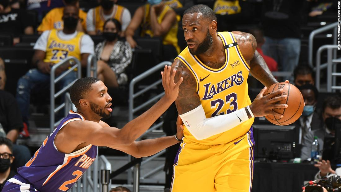 LeBron James' perfect record in first-round playoff series ends with elimination loss to Phoenix Suns – CNN International