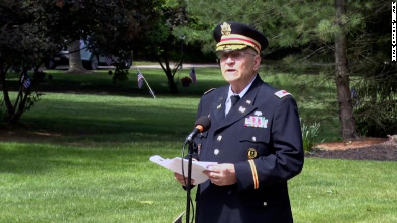 A veteran's microphone was cut during part of a Memorial Day speech that touched on Black people's role in the holiday