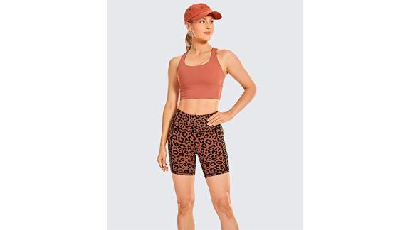 CRZ Yoga High-Waisted Biker Shorts