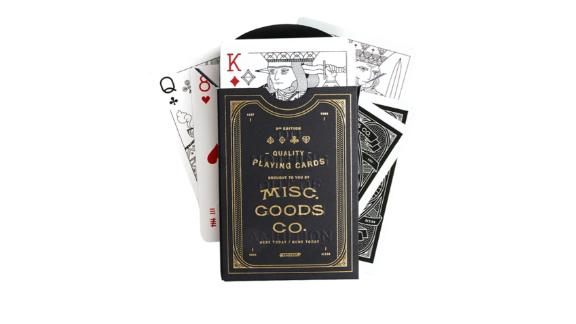 Misc. Goods Co. Black Playing Cards Deck