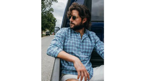 Faherty The Movement Check Button-Up Shirt