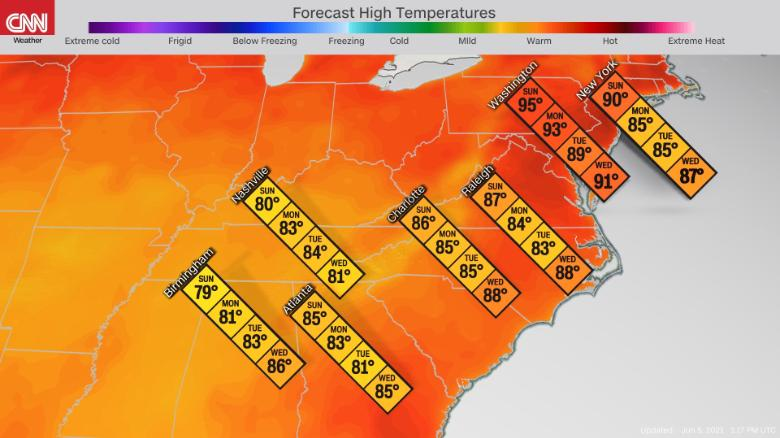 Record-setting heat wave reaches the Northeast this weekend