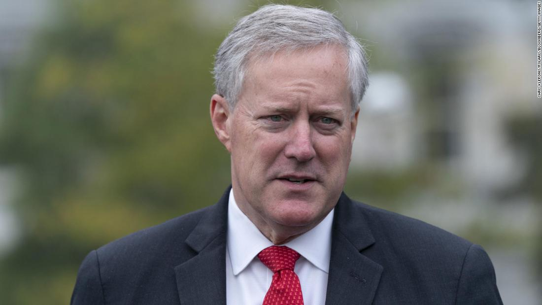 New York Times: Trump's chief of staff Mark Meadows pushed DOJ to investigate baseless election fraud claims