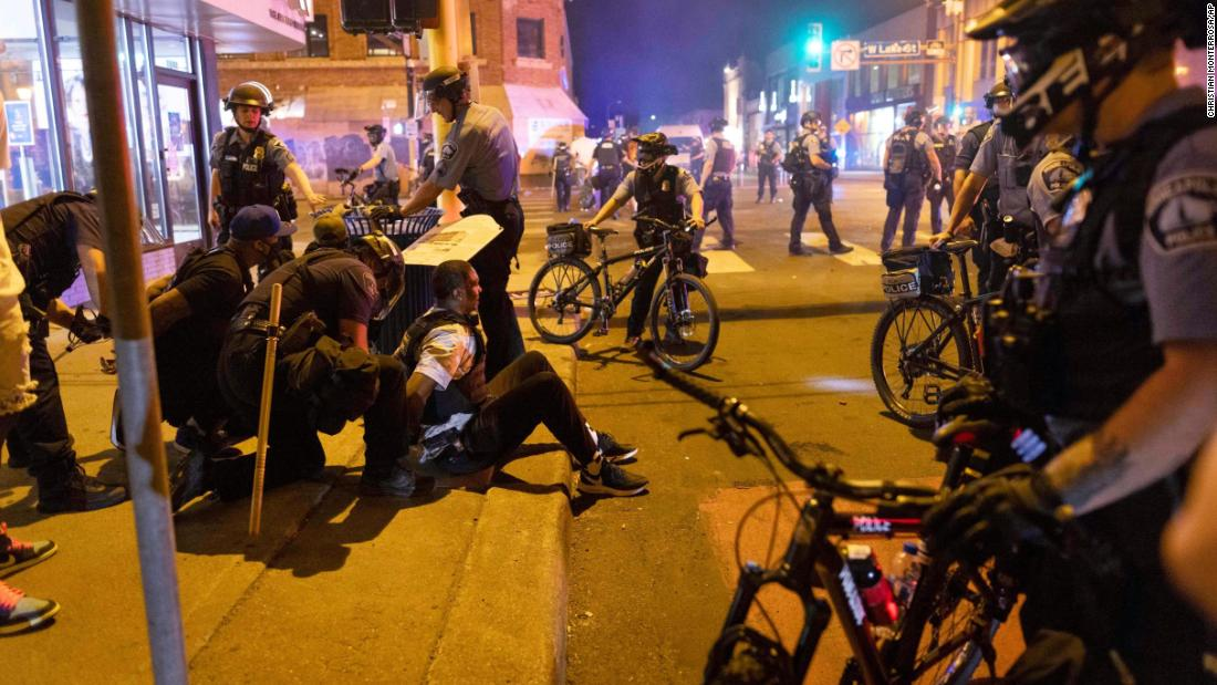 Protesters gather for second night in Minneapolis after law enforcement kills suspect