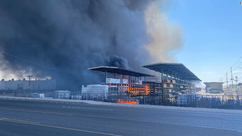 More than 200 firefighters battle massive recycling yard fire in Phoenix