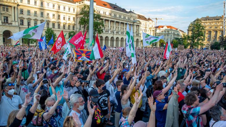 Thousands protest in Hungary against planned Chinese university campus
