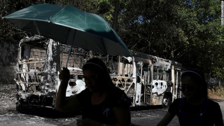 Arson and vandalism sweep Brazilian city of Manaus after death of criminal leader