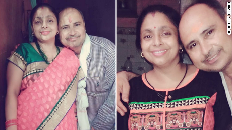 Devika's parents, both of whom died during India's second wave of Covid-19 outbreak.