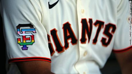 The San Francisco Giants wore Pride colors on the field in an MLB first