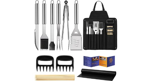 Veken BBQ Grill Accessories Kit With Storage Apron