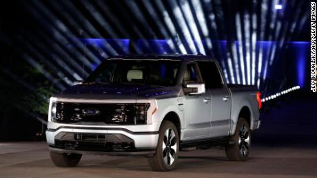 The all-electric Ford F-150 Lightning weighs about 1,600 more than a similar gasoline-powered truck.