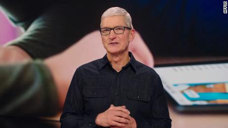 Apple CEO Tim Cook spoke during a keynote to kick off WWDC 2021. The event comes as apple faces renewed scrutiny of how it deals with app developers.