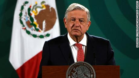 Mexican President Andres Manuel Lopez Obrador delivers a press conference about the results of Sunday's midterm elections at the National Palace in Mexico City on June 7.