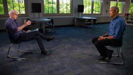 Former President Barack Obama speaks with CNN's Anderson Cooper.