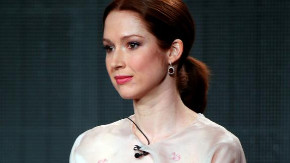 """PASADENA, CA - JANUARY 07:  Ellie Kemper speaks about the """"The Unbreakable Kimmy Schmidt"""" during the Netflix TCA Press Tour at Langham Hotel on January 7, 2015 in Pasadena, California.  (Photo by Mark Davis/Getty Images for Netflix)"""