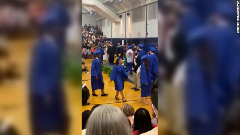 Teen who wore Mexican flag at graduation gets the diploma he was denied at the ceremony