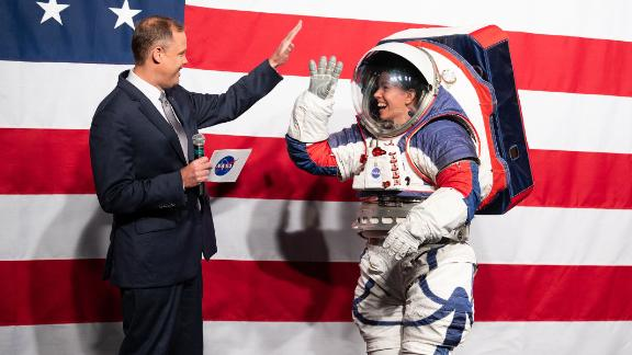 NASA revealed a ground prototype of their new Exploration Extravehicular Mobility Unit (xEMU) in 2019 at NASA Headquarters in Washington.