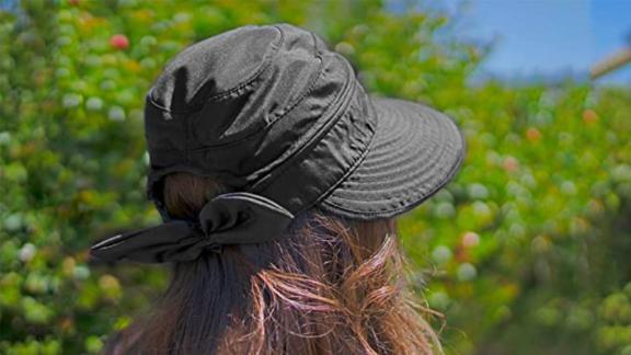 Simplicity Hats for Women UPF 50+ Convertible Beach Visor Hat