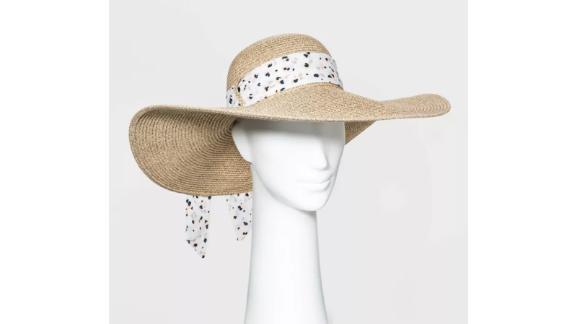 Women's Wide Brim Straw Floppy Hat