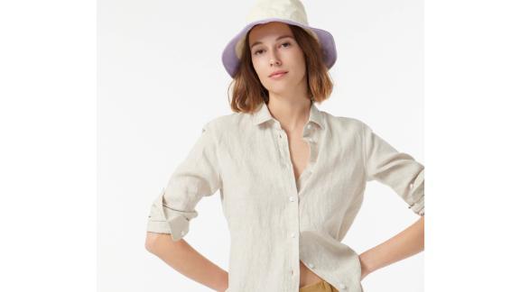 J.Crew Wide-Brim Bucket Hat in Colorblock