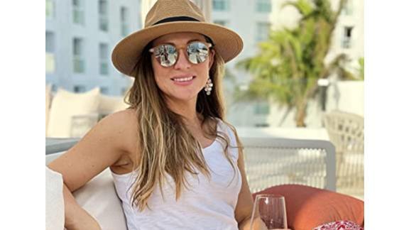 Wide Brim Straw Fedora Sun Hat