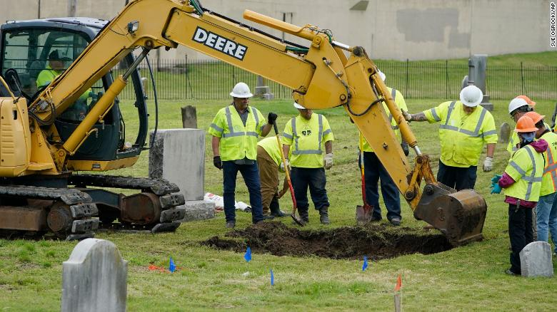 A total of 27 graves have been found so far at 1921 Tulsa massacre search site
