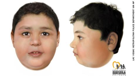 Authorities have identified a child found near a Las Vegas trail as 7-year-old Liam Husted, from San Jose, California. Sketches of Husted had been released while authorities attempted to identify the boy.