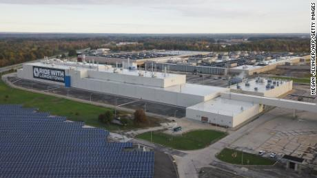 The Lordstown Motors plant where GM once worked.  Lordstown Motors warned on Tuesday that it may not have the money needed to start production of its first electric pickup vehicle.