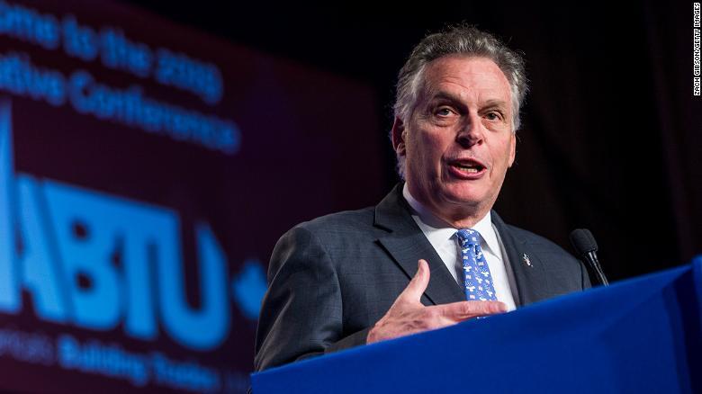 Terry McAuliffe wins Democratic gubernatorial primary in Virginia, CNN projects