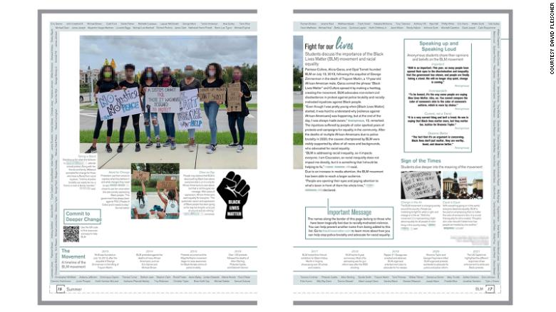 A Florida high school paused distribution of its yearbook over coverage of the Black Lives Matter movement