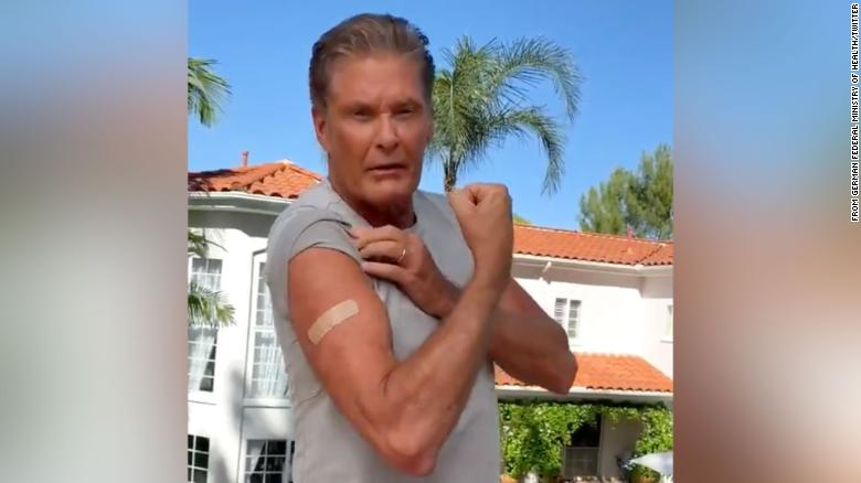 David Hasselhoff makes PSA video urging Germans to get vaccinated