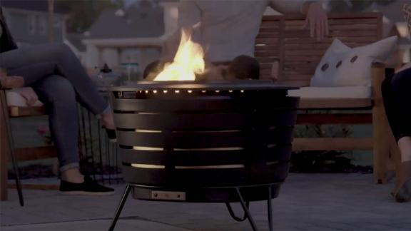 Tiki Brand 25-Inch Stainless Steel Low-Smoke Fire Pit