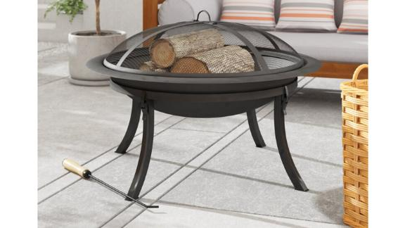 Gloucester Steel Wood-Burning Outdoor Fire Pit
