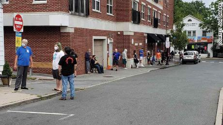 People line up outside of Princeton Record Exchange in New Jersey for one of three Record Store Day drops in 2020.