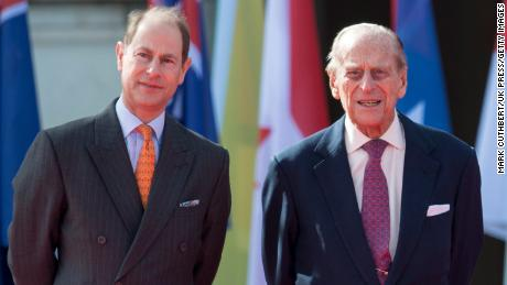Prince Edward and his father, the Duke of Edinburgh, in 2018.