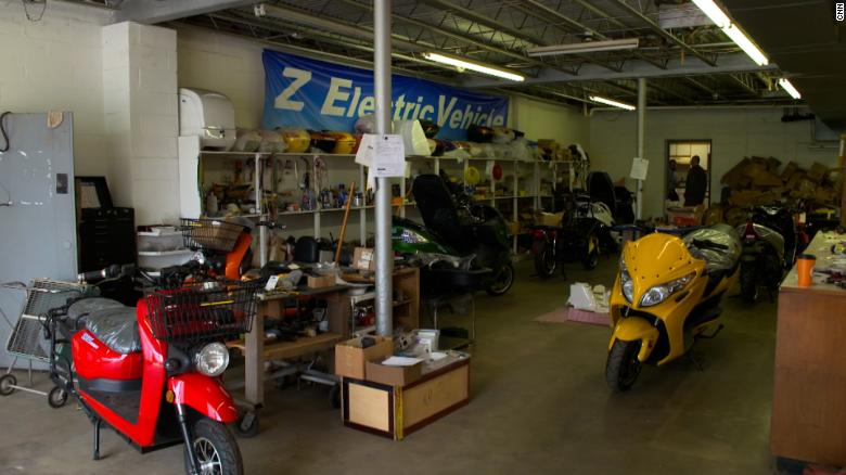 ZEV - Z Electric Vehicle - builds electric motorcycles and small vehicles in this garage in Westover, West Virginia.