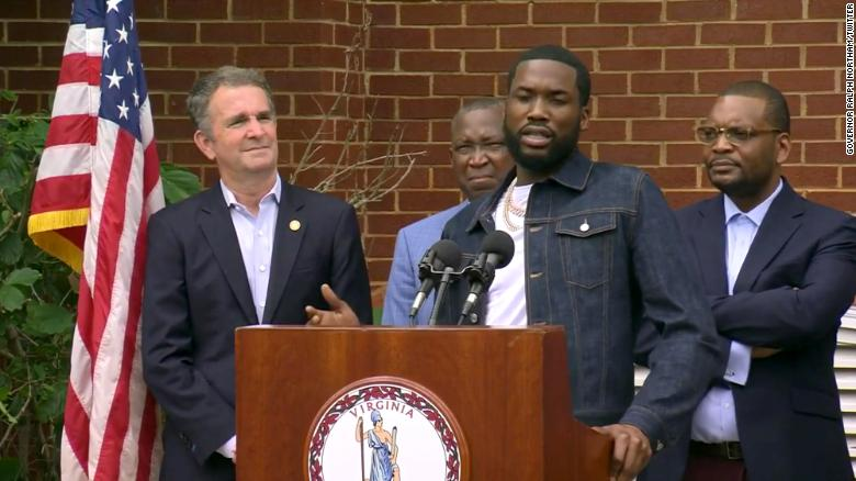 Virginia governor signs probation overhaul bill with support of rapper and activist Meek Mill