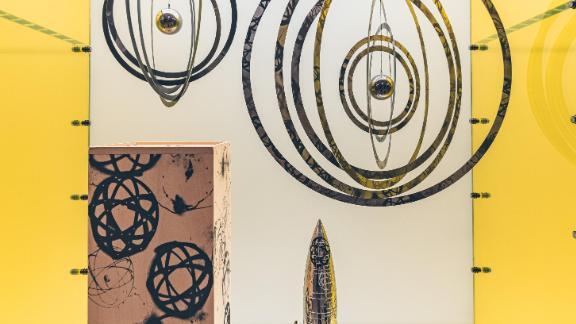 Collectibles on display at Futura's new pop-up shop in Hong Kong.