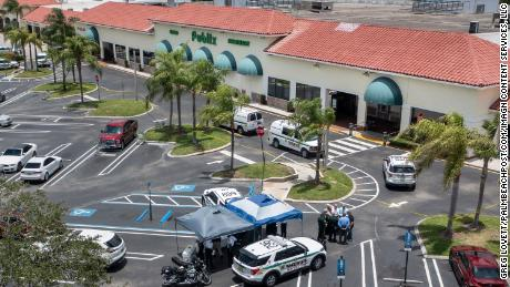 A gunman fatally shot a 1-year-old boy and his grandmother at a Florida grocery store