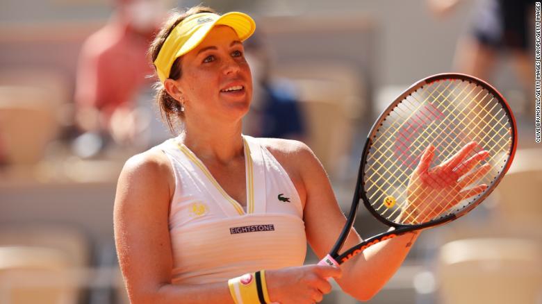 Anastasia Pavlyuchenkova reaches maiden grand slam final after defeating Tamara Zidanšek at French Open