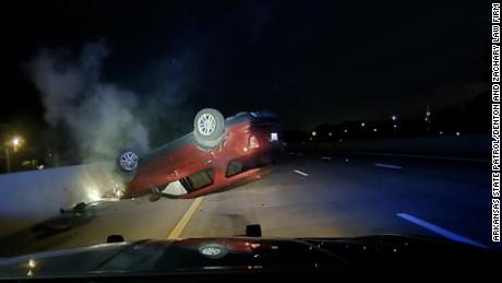 Arkansas state trooper sued for allegedly causing a pregnant woman's car to flip during traffic stop