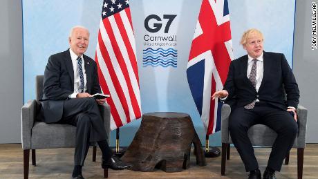 Le président américain Joe Biden a rencontré jeudi le Premier ministre britannique Boris Johnson avant le sommet du G7 à Cornwall.