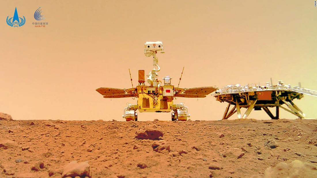 China releases new images of Mars taken by its Zhurong rover – CNN