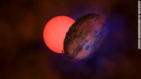 은하수 중심 근처에서 거대한 별이 깜박이는 것이 발견되었습니다.